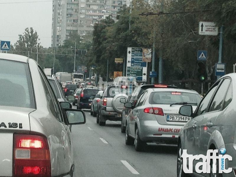 Задръстванията в Пловдив започнаха СНИМКИ