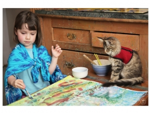 Дете-аутист рисува картини, търгуващи се за над 1500 паунда