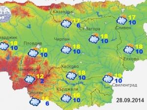 Райчо пеква и 19 градуса в Пловдив!