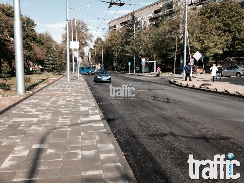 """Удължават срока за ремонт на бул. """"Македония"""", задръстването продължава СНИМКИ"""