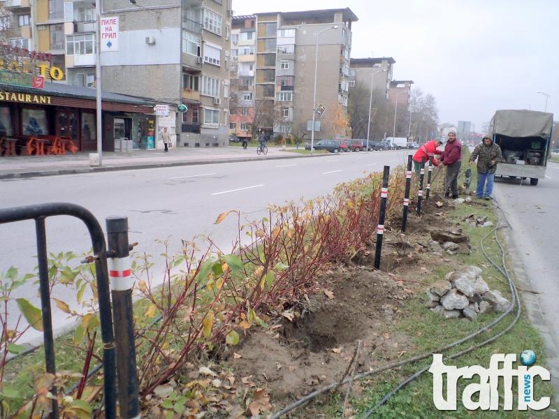 Сменят преградните пана на пловдивските булеварди