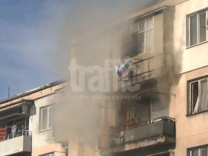 Ексклузивно видео от пожара на ул. \