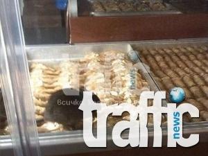 Ето как мишката пирува в сладкарница в центъра на Пловдив! ВИДЕО