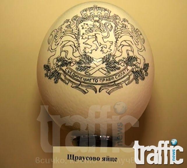 Американец гравира върху щраусови яйца ВИДЕО