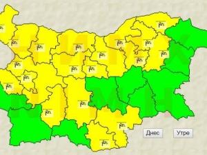 Жълт код в неделя за Пловдив и региона