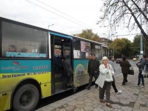 Автобус влачи пътник в Пловдив