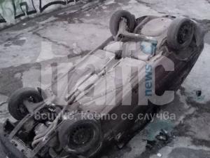 Автомобил падна в басейн на връх Джендем тепе СНИМКИ