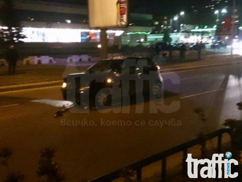 Такси и Фиат ожулиха ламарини на бул. България! СНИМКИ