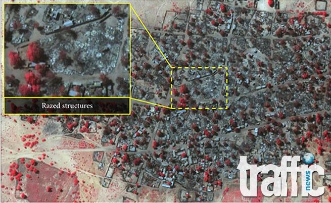 Сателит улови масово клане в Нигерия