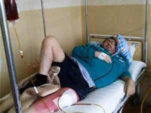 Митьо Пищова в инвалидна количка