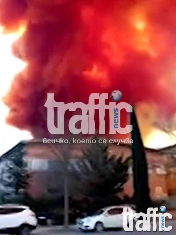 Взриви се склад в Испания, токсичен облак покри небето (ВИДЕО)