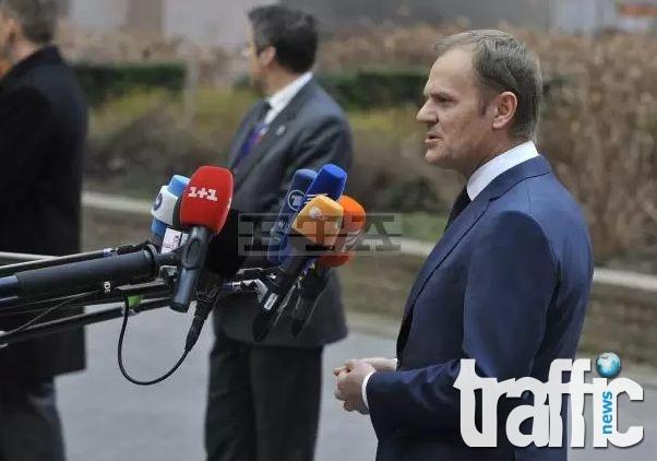 ЕС е готов да предприеме допълнителни мерки срещу Русия, ако е необходимо, каза Туск