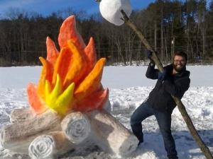 Снежно изкуство СНИМКИ