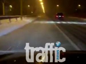 Полицаи завардиха магистралата, вижте състоянието й в момента ВИДЕО