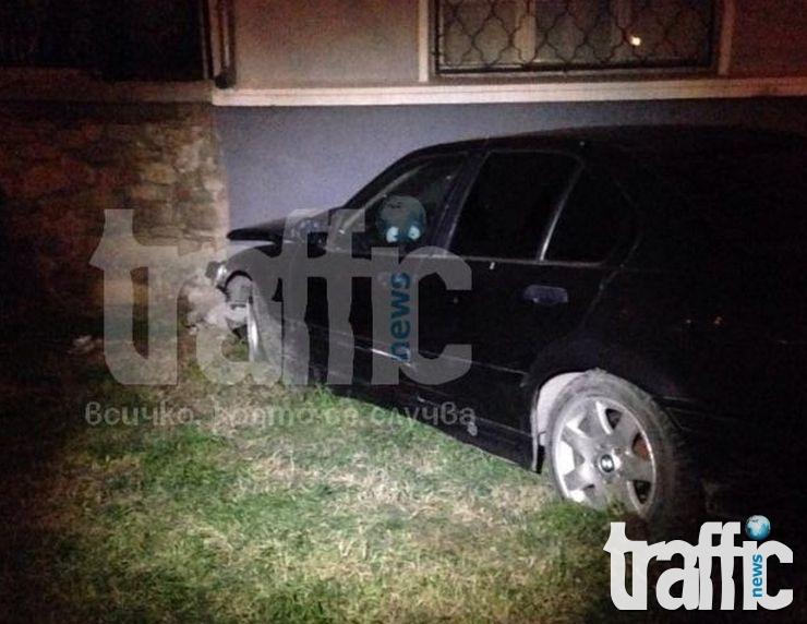 Мъртво пиян се заби в стълб в Пловдив
