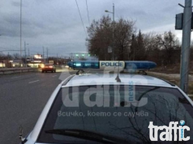 Закопчаха мъж с черно БМВ на изхода на Бургас