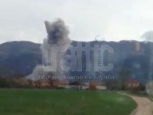 Само в TrafficNews.bg: Ето гъбата от новия взрив в Иганово ВИДЕО
