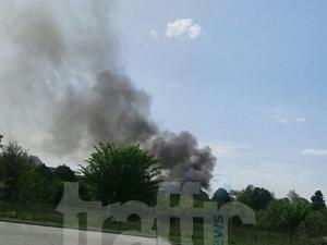 Голям пожар на 4-ти километър СНИМКИ и ВИДЕО