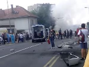 Експлозия разтърси Белград! Има ранени