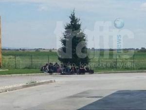 Трафикант стовари 20 сирийски бежанци на магистралата и изчезна СНИМКИ