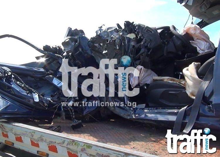 Тежка катастрофа на пътя Пловдив-Смолян! Има загинал