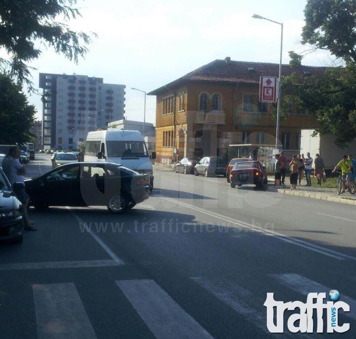 Три коли се удариха до гарата в Асеновград