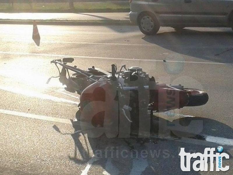Джипът, ударил моторист на КЦМ, е предприел забранена маневра