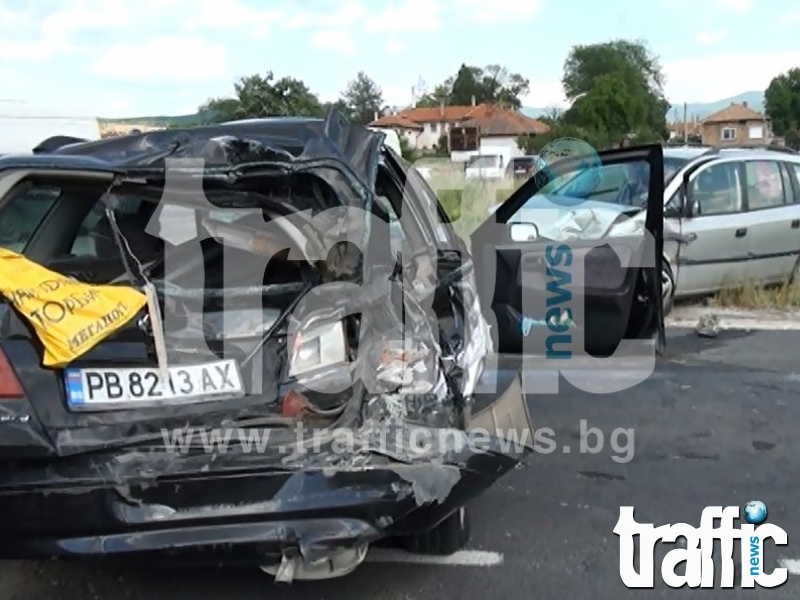 Неправоспособен шофьор пострада при катастрофа в