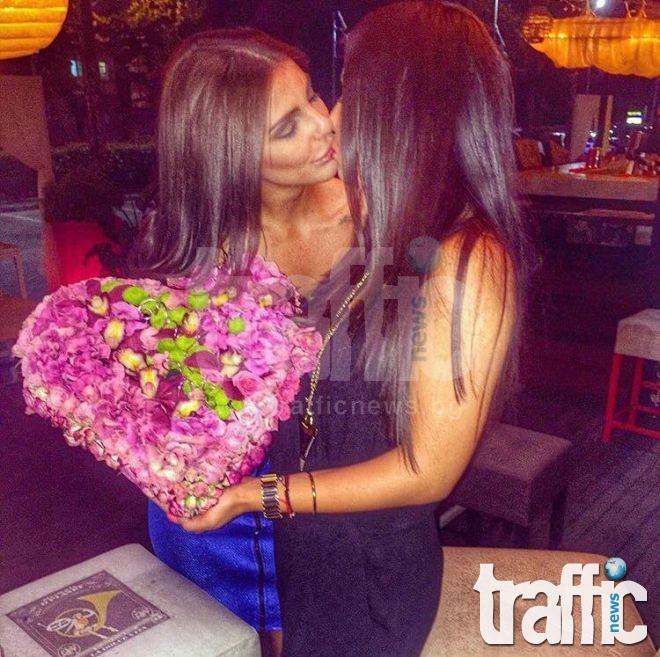 Сърце от цветя за Бисера Маринова