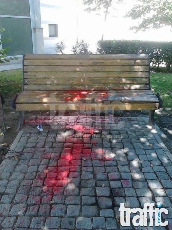 Пак оскверниха пейката в памет на Борис Христов СНИМКИ