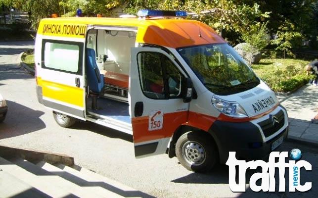 Момиченце на една година е в болница след верижна катастрофа в Пловдивско