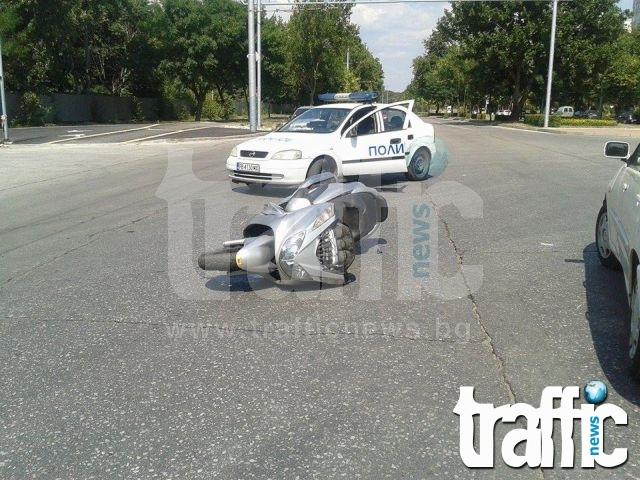 За пореден път: Моторист без книжка се блъсна с бясна скорост