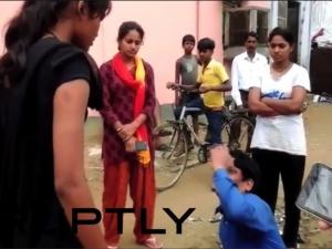 Жена унижи насилника си публично ВИДЕО