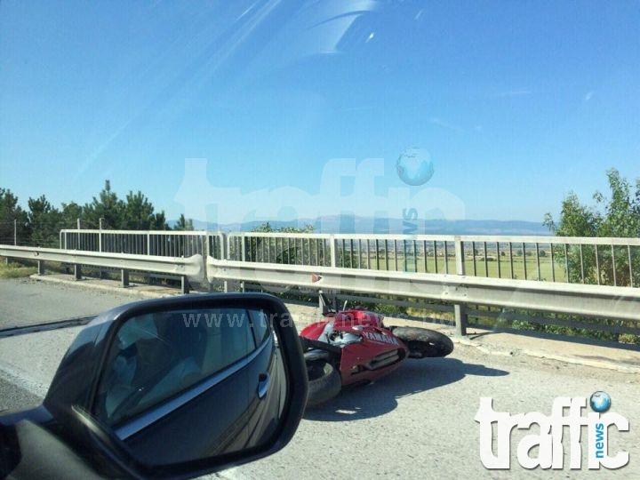 Моторист в тежко състояние след катастрофа на магистрала