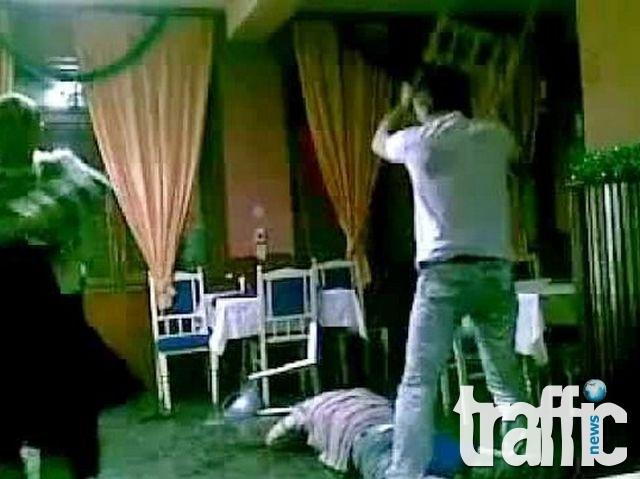 Банда вилня в заведение и преби собственика му