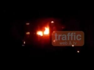 Ексклузивни кадри от пожара на апартамент в Пловдив ВИДЕО