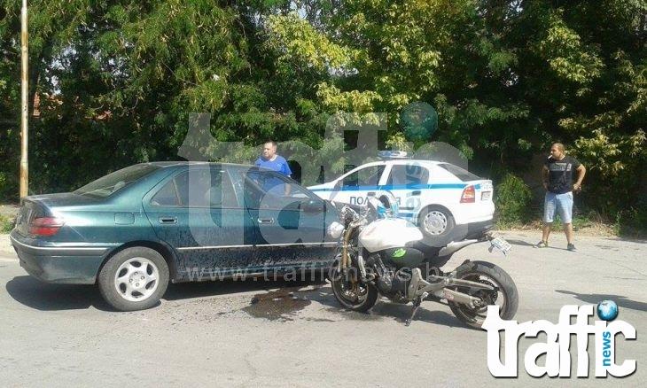 Двама катастрофираха в Пловдив, по чудо няма пострадали