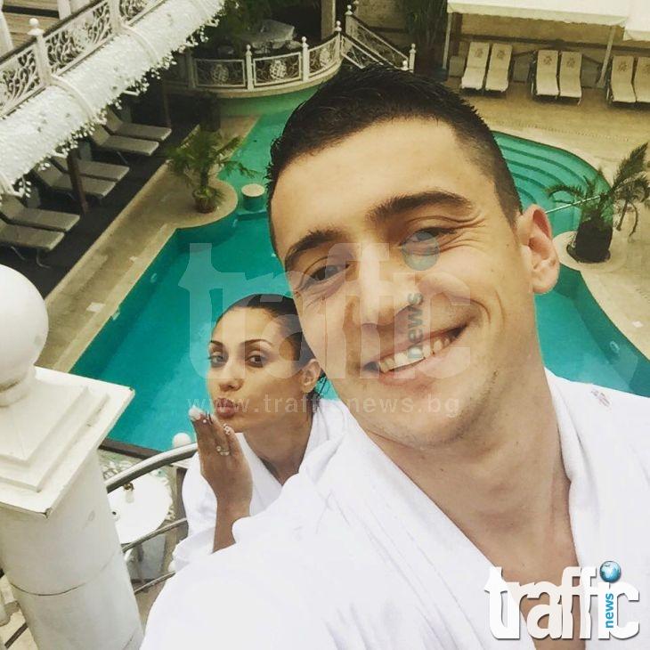 Фаталната Антония празнува 1 година любов с  Евелин в петзвезден хотел