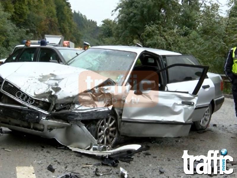 Мъж пострада при катастрофа между четири коли