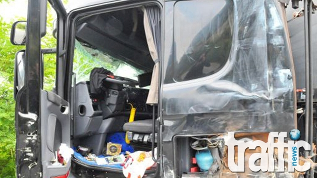 Зверска катастрофа между ТИР и кола край Кресна