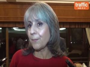 Вицепрезидентът Маргарита Попова с коментар на полицейския протест в Пловдив
