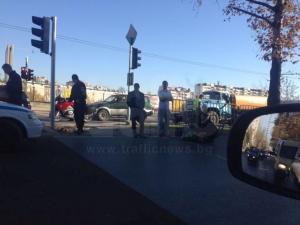 """Ударената жена пред стадион """"Ботев"""" бе откарана в болница цялата окървавена СНИМКИ"""