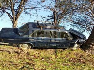 Мъртво пиян пловдивчанин се заби в дърво до гробищата в Прослав СНИМКИ