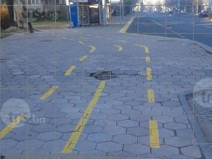 """Фалшива велоалея на """"6 септември""""! Без настилка, но пък с дупки"""