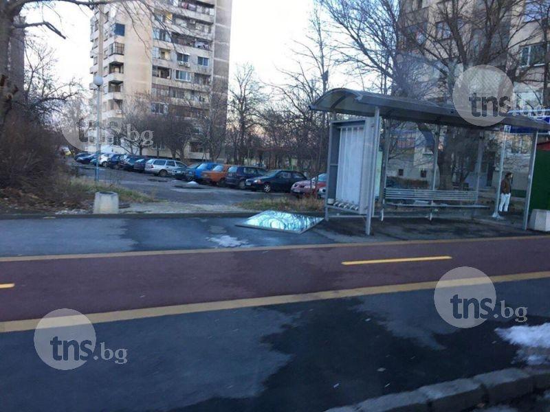 Вандали потрошиха чисто нова спирка в район