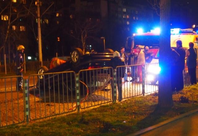 Шофьор засече Рено и избяга с мръсна газ СНИМКА