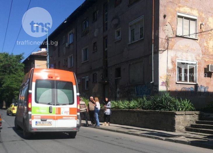 БМВ отнесе клошар на булевард в Пловдив СНИМКИ