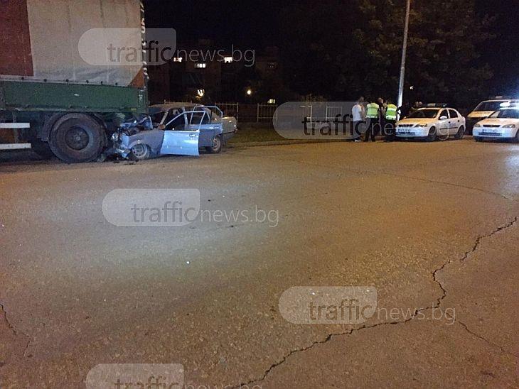 Полицейски коли гонили мъжа, който се размаза в Тракия, загинал е намясто СНИМКИ и ВИДЕО