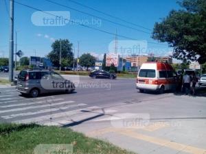 Тойота помете жена на пешеходна пътека до SPS  СНИМКИ