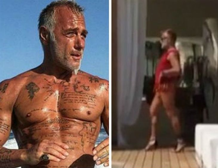 Танцуващият милионер Джанлука Ваки се качи на... токчета ВИДЕО